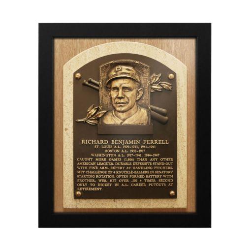Boston Red Sox Rick Ferrell Baseball Hall of Fame Framed Plaque Print