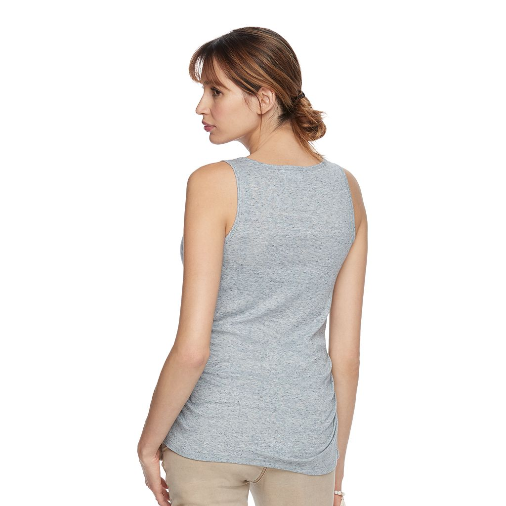 Maternity a:glow Ribbed Ruched Tank