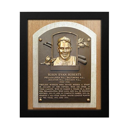 Philadelphia Phillies Robin Roberts Baseball Hall of Fame Framed Plaque Print