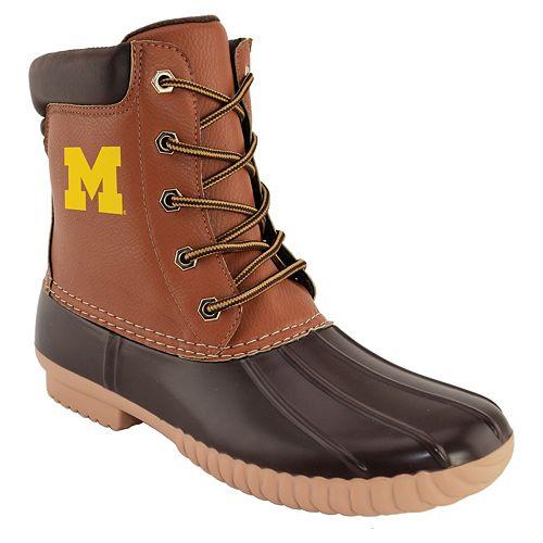 Men's Michigan Wolverines Duck Boots