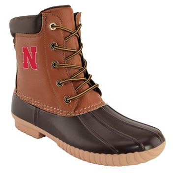 Men's Nebraska Cornhuskers Duck Boots
