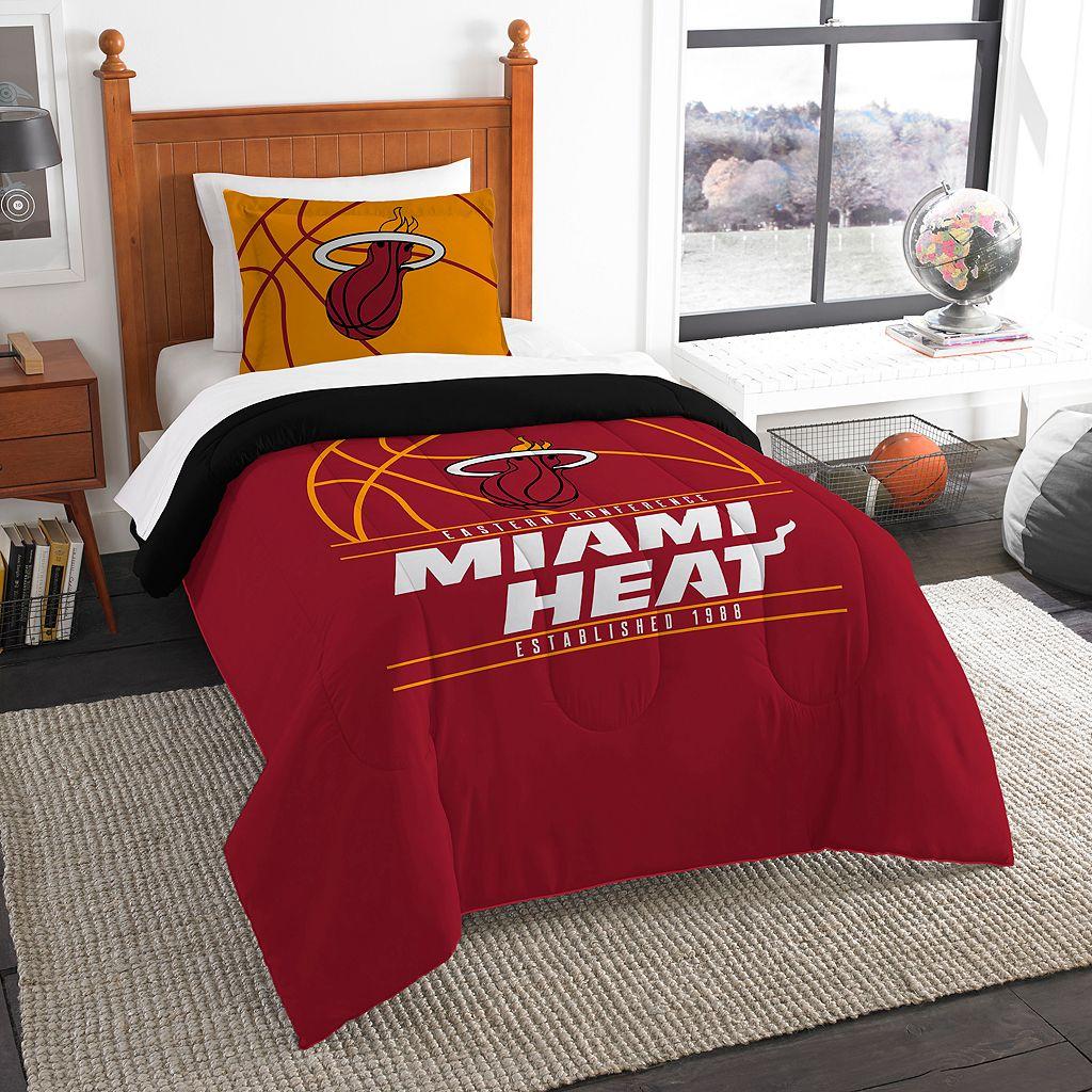 Miami Heat Reverse Slam Twin Comforter Set by Northwest