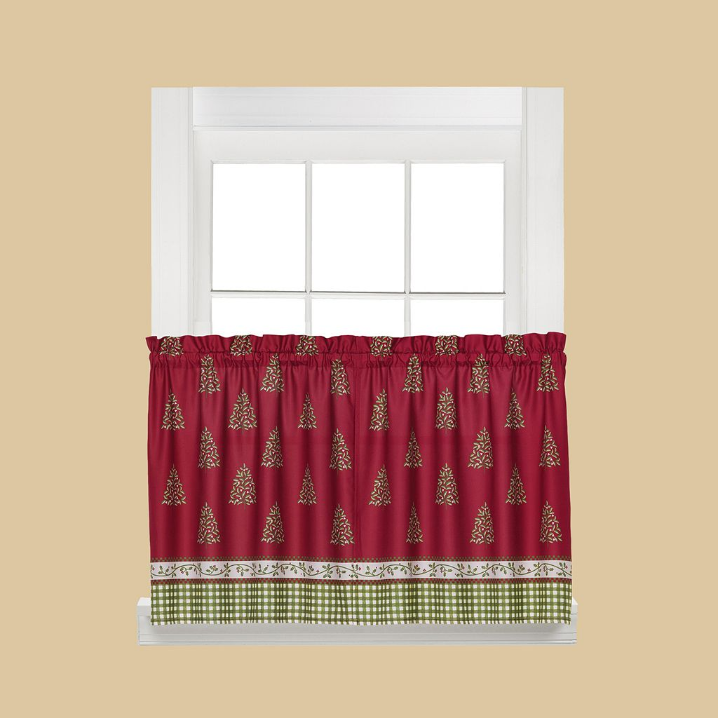 Saturday Knight, Ltd. Hometown Holiday Tier Curtain Pair