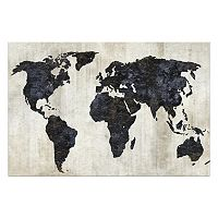Artissimo The World II Canvas Wall Art