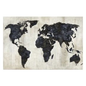 Artissimo The World II Canvas Wall Art