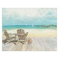Artissimo Seaside Morning No Window Canvas Wall Art