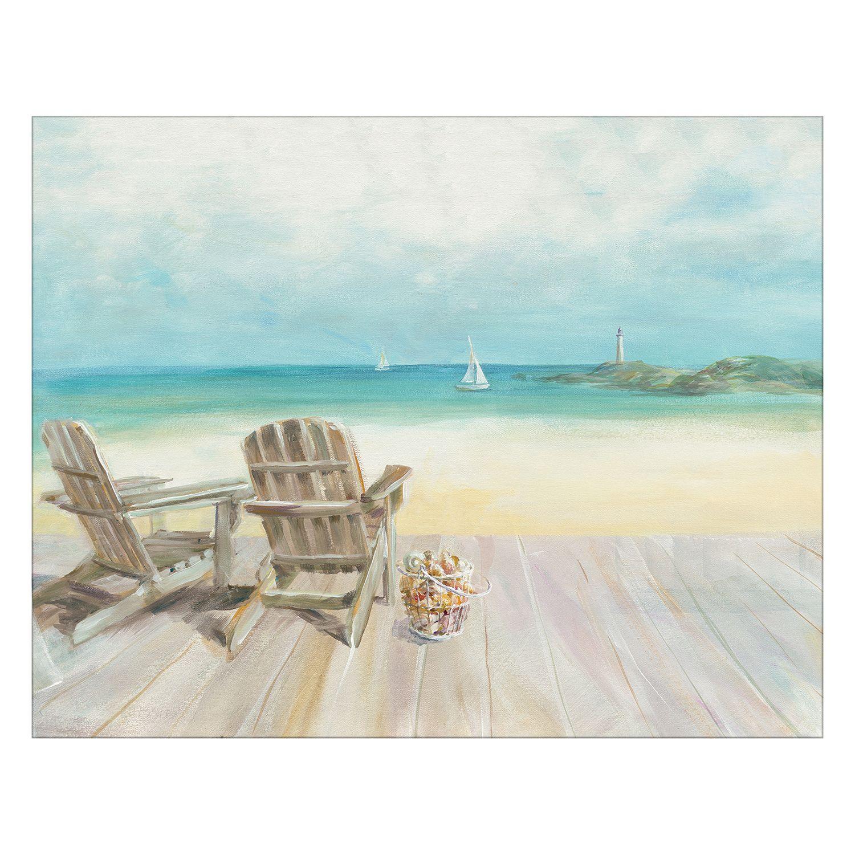 Artissimo Seaside Morning No Window Canvas Wall Art