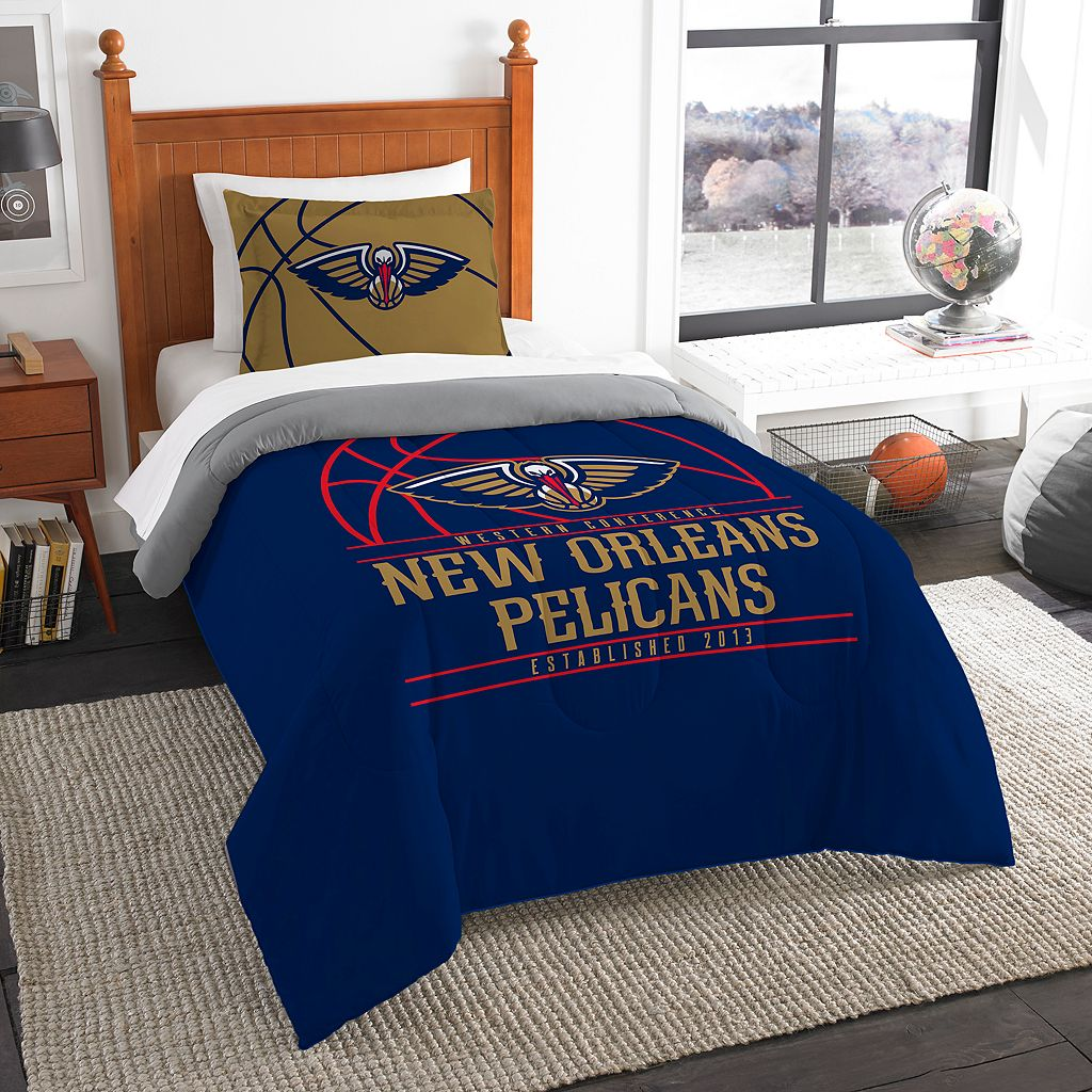 New Orleans Pelicans Reverse Slam Twin Comforter Set by Northwest