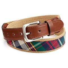 Boys Chaps Plaid Web Belt