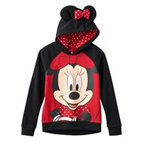 Disney's Minnie Mouse Girls 7-16 3D Ears & Bow Hoodie