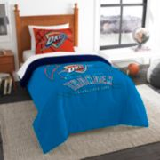 Oklahoma City Thunder Reverse Slam Twin Comforter Set by Northwest
