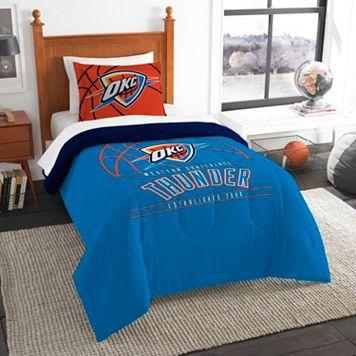 Oklahoma City Thunder Reverse Slam Twin Comforter Set by Northwest
