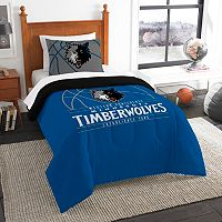 Minnesota Timberwolves Reverse Slam Twin Comforter Set by Northwest