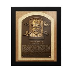 Milwaukee Brewers Robin Yount Baseball Hall of Fame Framed Plaque Print