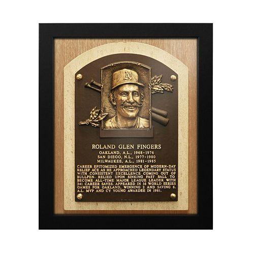 Oakland Athletics Rollie Fingers Baseball Hall of Fame Framed Plaque Print