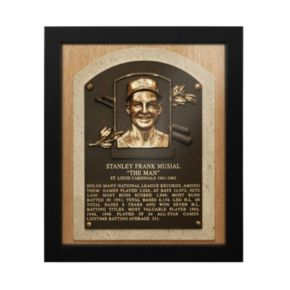 St. Louis Cardinals Stan Musial Baseball Hall of Fame Framed Plaque Print