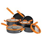 Chopped 10 pc Aluminum Cookware Set with Silicone Strainer Lids