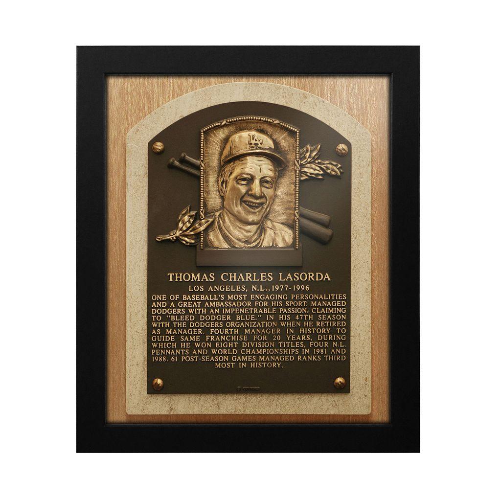 Los Angeles Dodgers Tom Lasorda Baseball Hall of Fame Framed Plaque Print