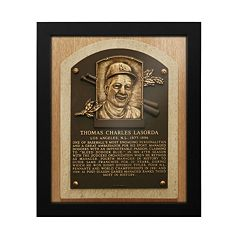 Los Angeles Dodgers Tom Lasorda Baseball Hall of Fame Framed Plaque Print