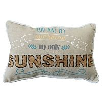 ''You Are My Sunshine'' Small Oblong Throw Pillow