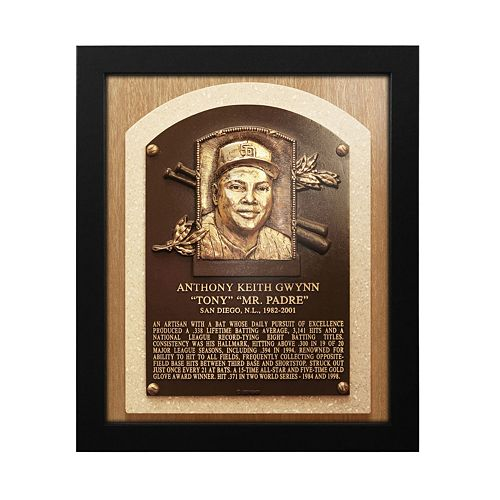 San Diego Padres Tony Gwynn Baseball Hall of Fame Framed Plaque Print