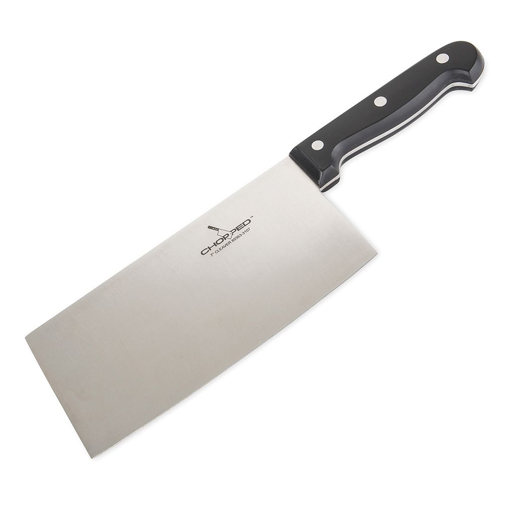 Chopped Stainless Steel 7-in. Champion Cleaver