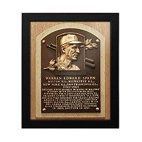 Atlanta Braves Warren Spahn Baseball Hall of Fame Framed Plaque Print