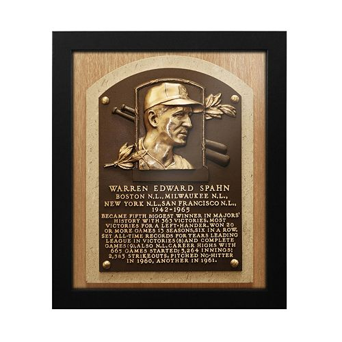 Atlanta Braves Warren Spahn Baseball Hall of Fame Framed Plaque Print