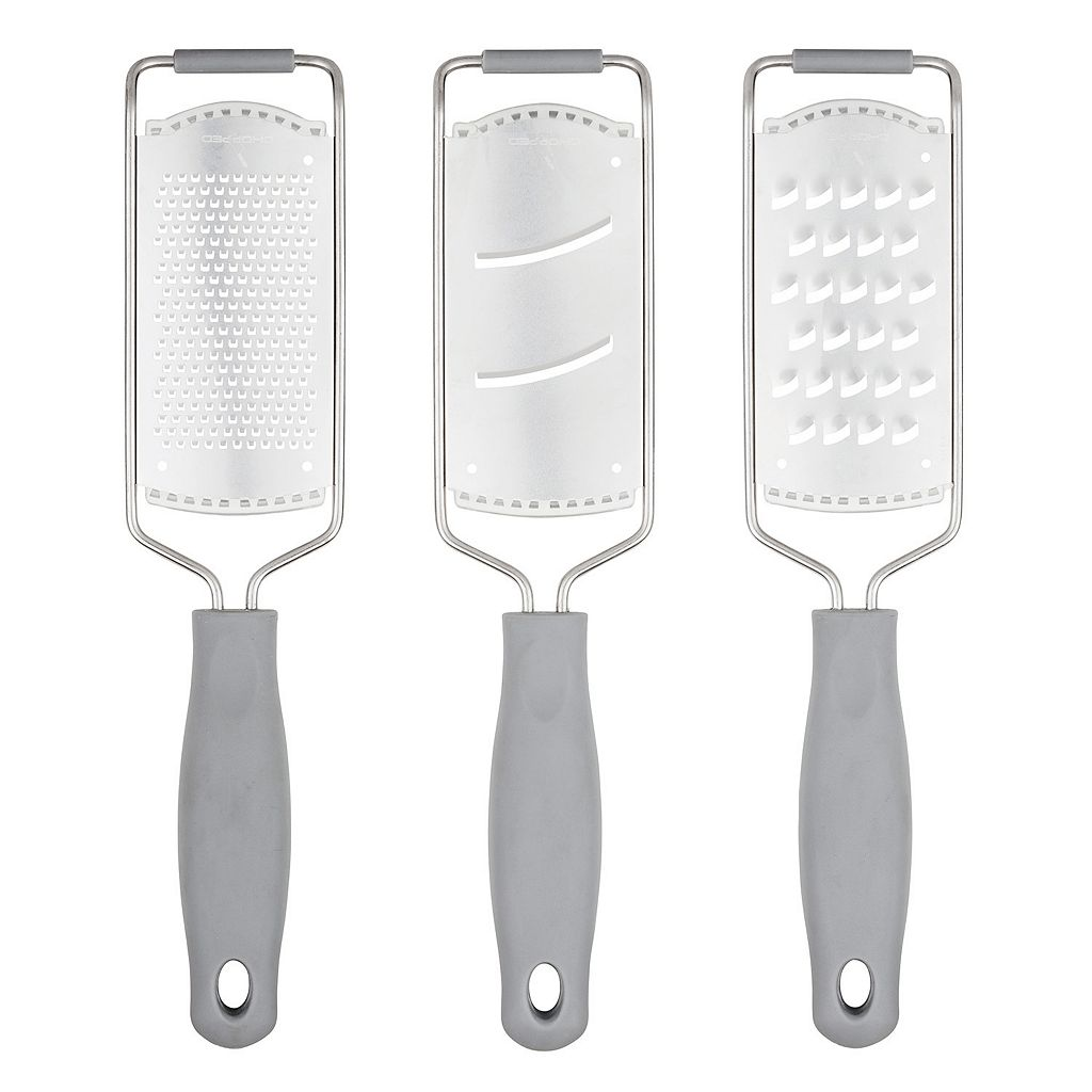 Chopped 3-pc. Stainless Steel Grater Set