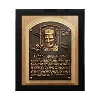 New York Yankees Whitey Ford Baseball Hall of Fame Framed Plaque Print