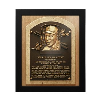 San Francisco Giants Willie McCovey Baseball Hall of Fame Framed Plaque Print