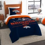 Denver Broncos Draft Twin Comforter Set by Northwest
