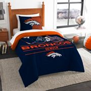 Denver Broncos Draft Twin Comforter Set by Northwest