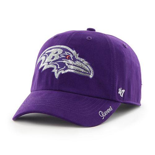 Women's '47 Brand Baltimore Ravens Sparkle Adjustable Cap