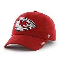 Women's '47 Brand Kansas City Chiefs Sparkle Adjustable Cap