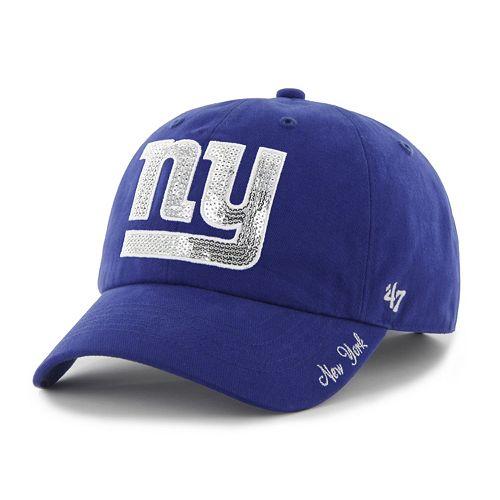 Women's '47 Brand New York Giants Sparkle Adjustable Cap
