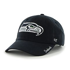 Women's '47 Brand Seattle Seahawks Sparkle Adjustable Cap
