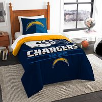 San Diego Chargers Draft Twin Comforter Set by Northwest