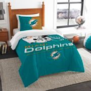 Miami Dolphins Draft Twin Comforter Set by Northwest