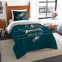 Philadelphia Eagles Draft Twin Comforter Set by Northwest