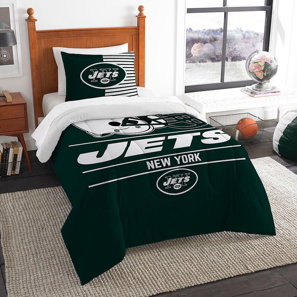 New York Jets Draft Twin Comforter Set by Northwest