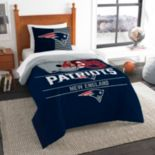 New England Patriots Draft Twin Comforter Set by Northwest