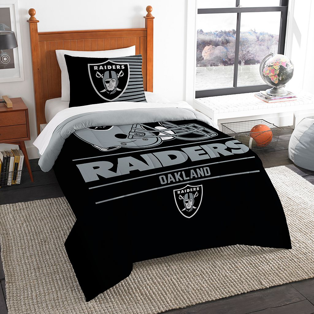 Oakland Raiders Draft Twin Comforter Set by Northwest