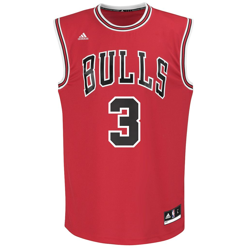 Men's adidas Chicago Bulls Dwyane Wade NBA Replica Jersey
