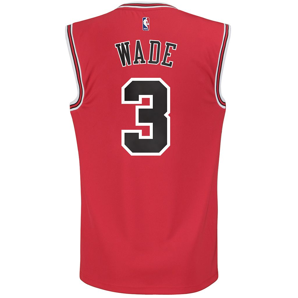 Men's adidas Chicago Bulls Dwyane Wade NBA Replica Jersey