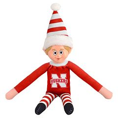 Forever Collectibles Nebraska Cornhuskers Team Holiday Elf