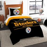 Pittsburgh Steelers Draft Twin Comforter Set by Northwest