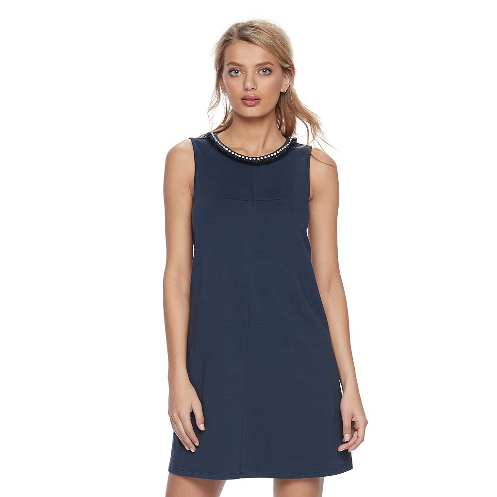 Women's Juicy Couture Embellished Fringe Shift Dress