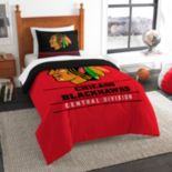 Chicago Blackhawks Draft Twin Comforter Set by Northwest