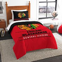 Chicago Blackhawks Draft Twin Comforter Set by Northwest
